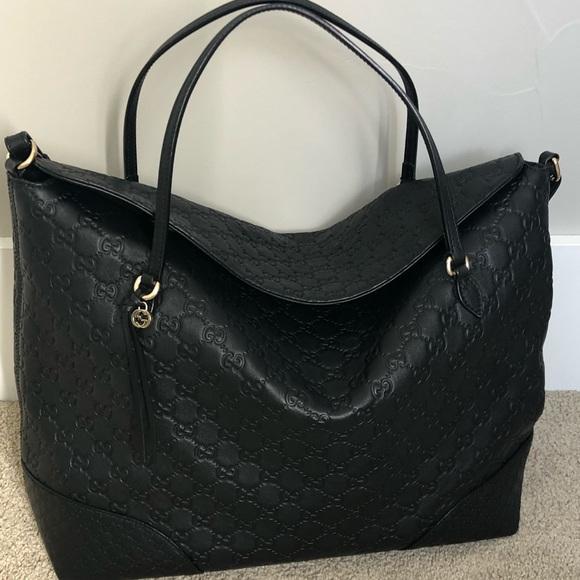 9b00519e2acad1 Gucci Bags | Bree Ssima Leather Top Handle Bag Black | Poshmark